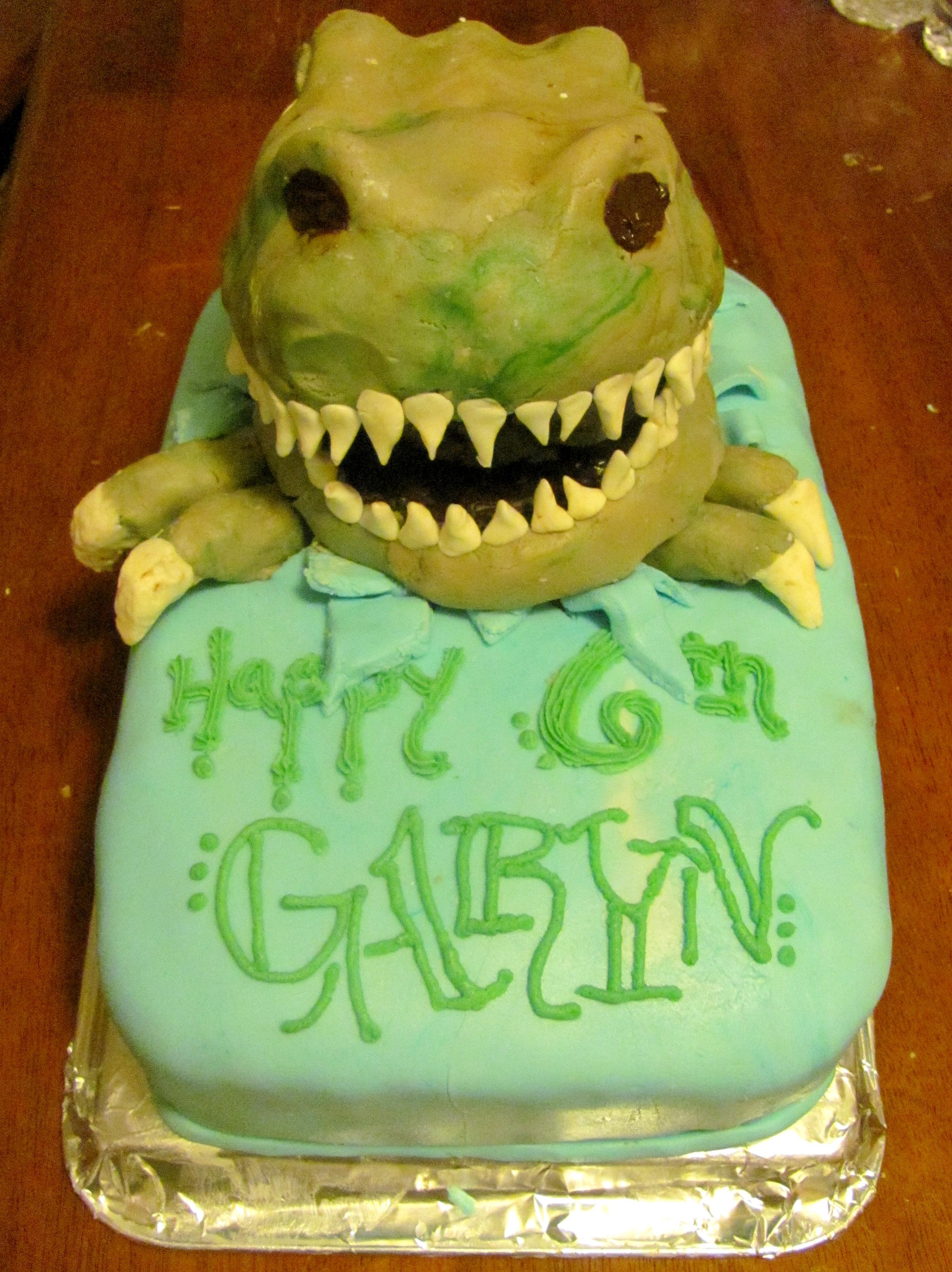 T Rex Birthday Cake Comfy Posy